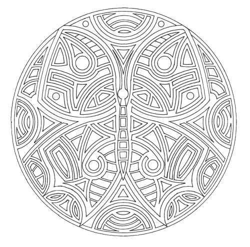 Coloriage et dessins gratuits Mandala Papillon Anti-Stress à imprimer