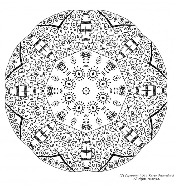 Coloriage Mandala Couleur.Coloriage Mandala Simple Couleur Dessin Gratuit A Imprimer