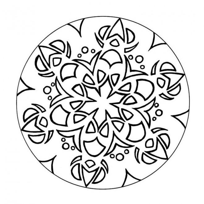 Coloriage et dessins gratuits Mandala vectoriel en couleur à imprimer