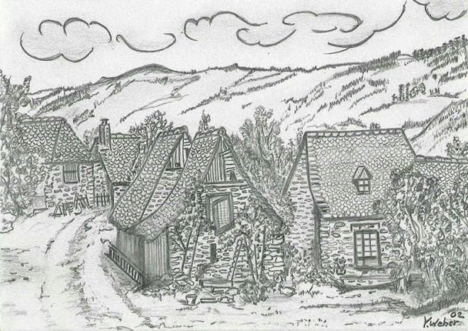 Coloriage et dessins gratuits Adulte Paysage au crayon à imprimer