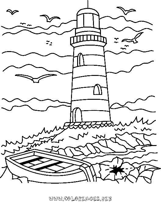 Coloriage Adulte Paysage De La Mer Dessin Gratuit A Imprimer