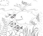 Coloriage et dessins gratuit Adulte Paysage Fond Marin à imprimer