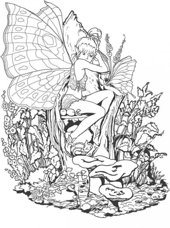 Coloriage et dessins gratuits Adulte Paysage Magique à imprimer