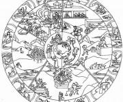 Coloriage et dessins gratuit Paysage Mandala à imprimer
