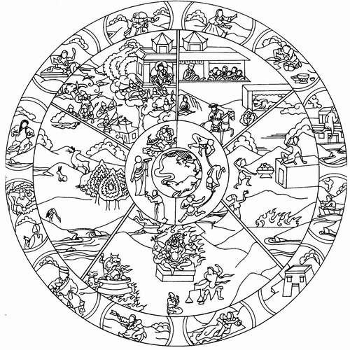 Coloriage et dessins gratuits Paysage Mandala à imprimer