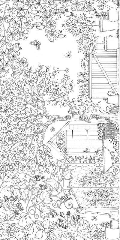 Coloriage et dessins gratuits Paysage Printemps à imprimer