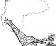 Coloriage et dessins gratuit Afrique à colorier à imprimer