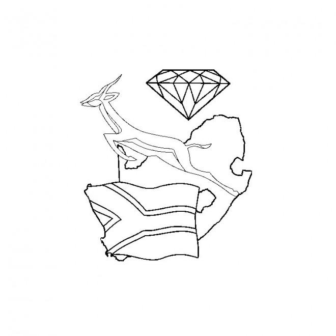 Coloriage et dessins gratuits Afrique de sud Logo à imprimer