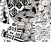 Coloriage et dessins gratuit Afrique en couleur à imprimer