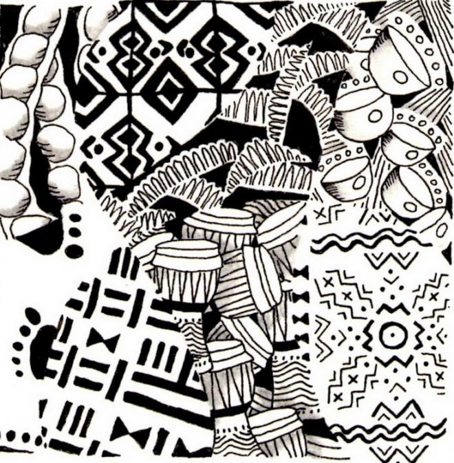 Coloriage et dessins gratuits Afrique en couleur à imprimer