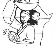 Coloriage et dessins gratuit Afrique maternelle à imprimer