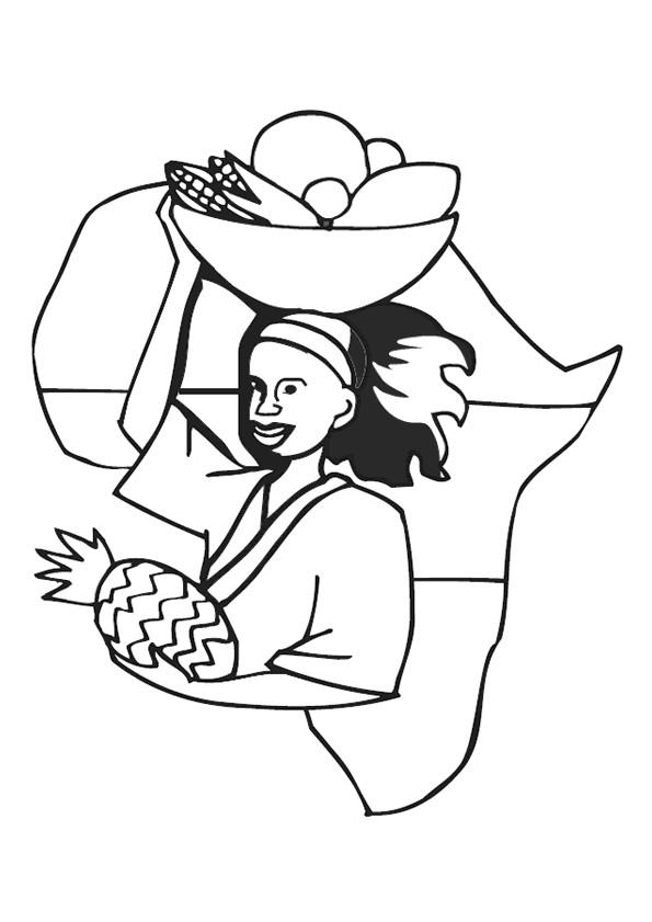 Coloriage et dessins gratuits Afrique maternelle à imprimer
