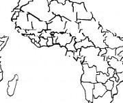 Coloriage et dessins gratuit Carte Afrique pour enfant à imprimer