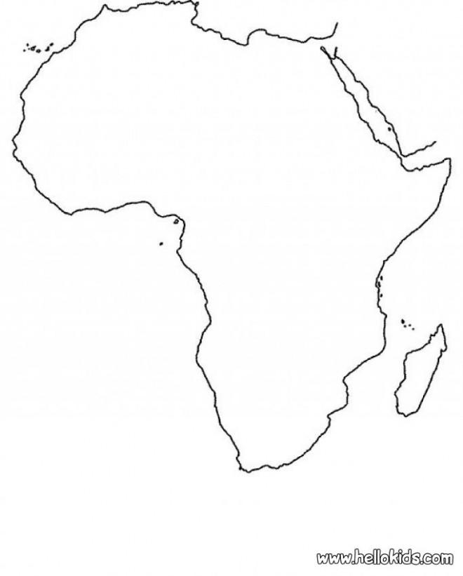 Coloriage carte d 39 afrique dessin gratuit imprimer - Coloriage afrique a imprimer ...