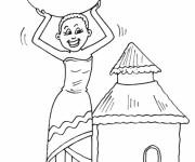 Coloriage et dessins gratuit Femme Africaine facile à imprimer