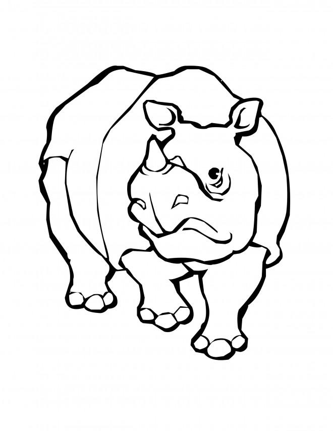 Coloriage et dessins gratuits Hippopotame d'Afrique vecteur à imprimer