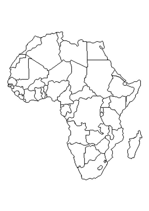Coloriage le continent africain dessin gratuit imprimer - Coloriage afrique a imprimer ...