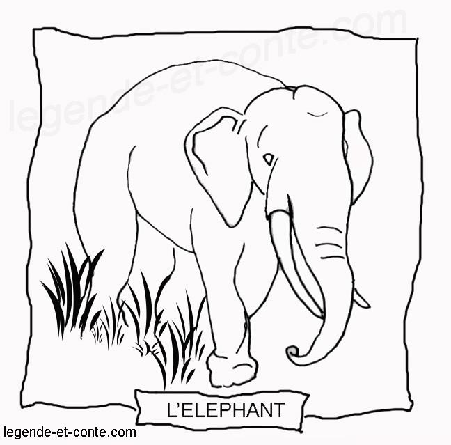 Coloriage et dessins gratuits Un Éléphant à découper à imprimer