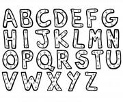 Coloriage dessin  Alphabet 1