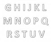 Coloriage dessin  Alphabet 11