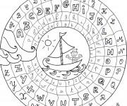 Coloriage dessin  Alphabet 13