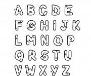 Coloriage dessin  Alphabet 3