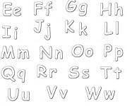 Coloriage dessin  Alphabet 5
