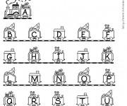 Coloriage et dessins gratuit Alphabet de Noël à imprimer