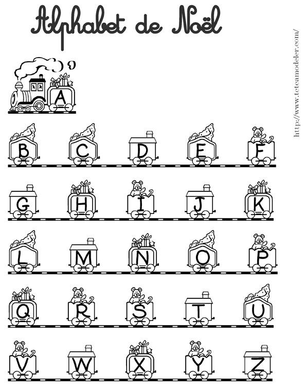 Coloriage et dessins gratuits Alphabet de Noël à imprimer