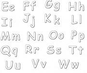 Coloriage et dessins gratuit Alphabet en Majuscule et Minuscule à imprimer