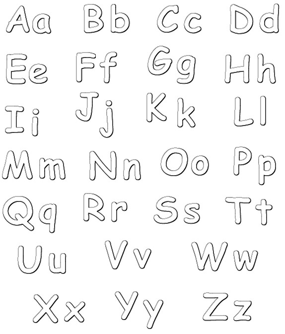 Coloriage alphabet en majuscule et minuscule dessin - Alphabet majuscule a imprimer ...