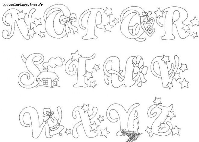 Coloriage et dessins gratuits Alphabet et Dessins à imprimer