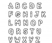 Coloriage Alphabet facile