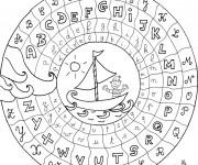 Coloriage et dessins gratuit Alphabet française couleur à imprimer