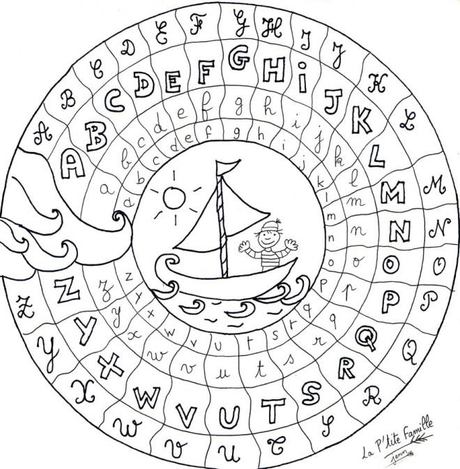 Coloriage et dessins gratuits Alphabet française couleur à imprimer