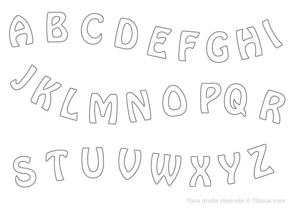Coloriage et dessins gratuits Alphabet Latin en Majuscule à imprimer