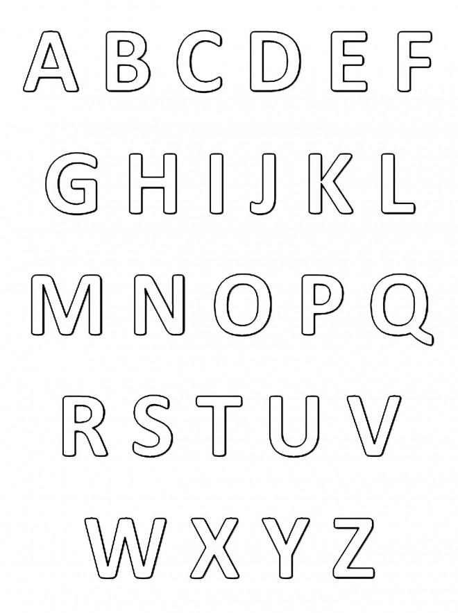 Coloriage et dessins gratuits Alphabet stylisé à imprimer
