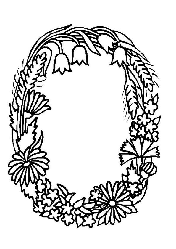 Coloriage Des Fleurs Formant La Lettre O Dessin Gratuit 224