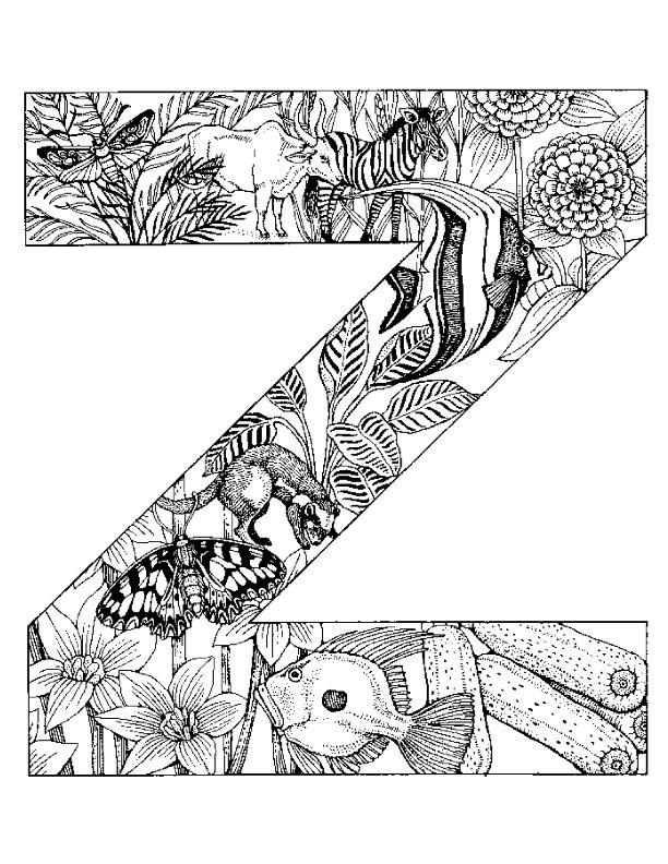 Coloriage et dessins gratuits La lettre Z de l'Alphabet à imprimer