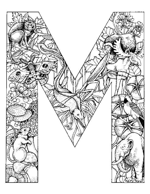 Coloriage et dessins gratuits Les Animaux qui ont La Lettre M à imprimer