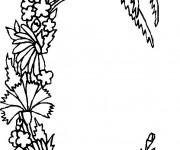 Coloriage et dessins gratuit Lettre C en forme de Plante à imprimer
