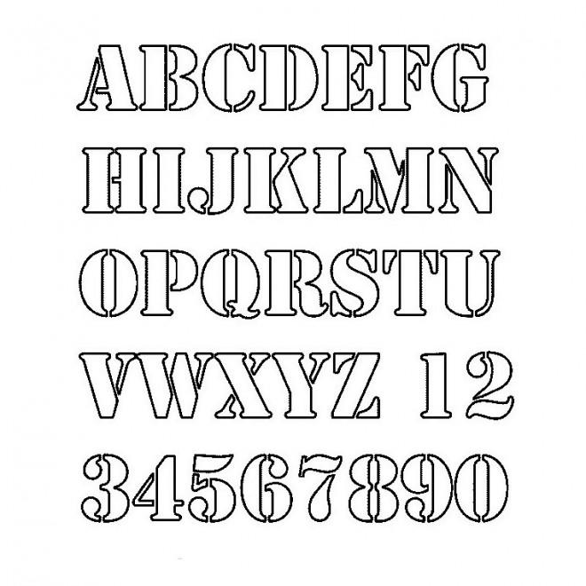 Coloriage lettres de l 39 alphabet et chiffres dessin gratuit imprimer - Grande lettre alphabet a imprimer ...