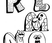 Coloriage et dessins gratuit Lettres de l'Alphabet qui font rire à imprimer