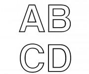Coloriage et dessins gratuit Lettres en majuscule à colorier à imprimer