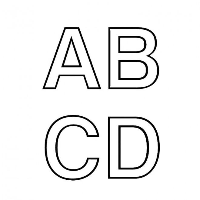 Coloriage lettres en majuscule colorier dessin gratuit imprimer - Lettres a imprimer ...