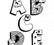 Coloriage et dessins gratuit Lettres rigolotes de l'Alphabet à imprimer