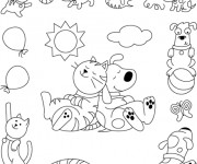 Coloriage Animaux Amusants