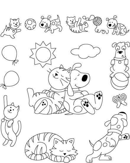 Coloriage et dessins gratuits Animaux Amusants à imprimer
