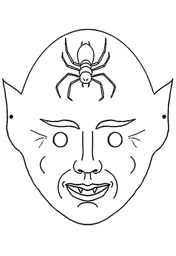 Coloriage masque halloween dessin gratuit imprimer - Masque halloween a colorier ...