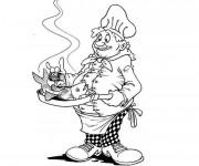 Coloriage et dessins gratuit Un Chef de cuisine à imprimer